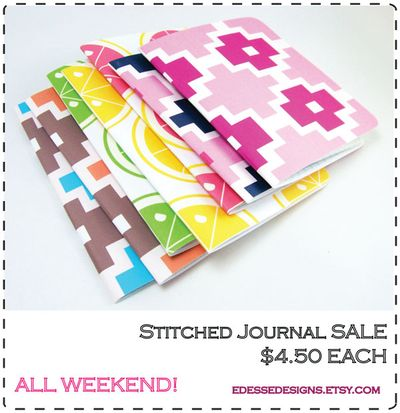 Stitched journal sale
