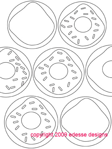 Doughnut coloring book page 4