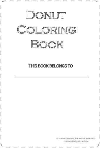 Edesse Designs Blog Donut Coloring Book