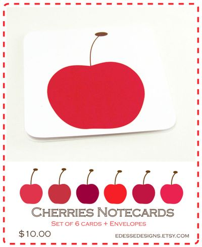 Pear notecard