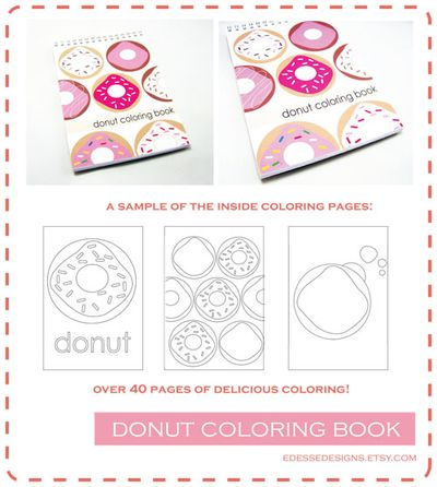 Donut coloring book ad copy