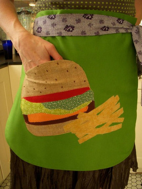 Hamburgerandfriesapron