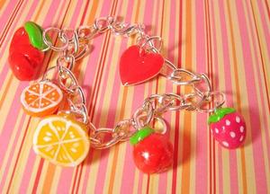 Fruit_charm_bracelet